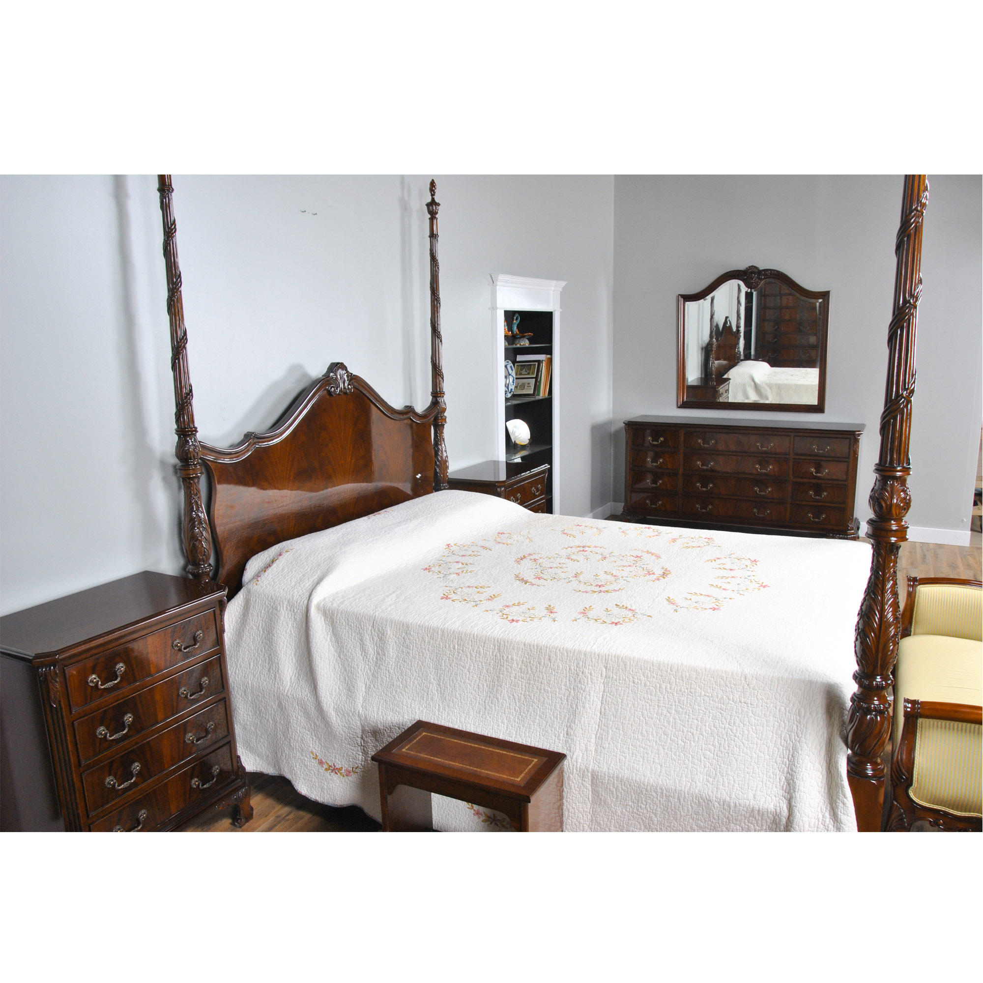 High Poster Bed King King Size Mahogany Four Poster Bed Niagara Furniture
