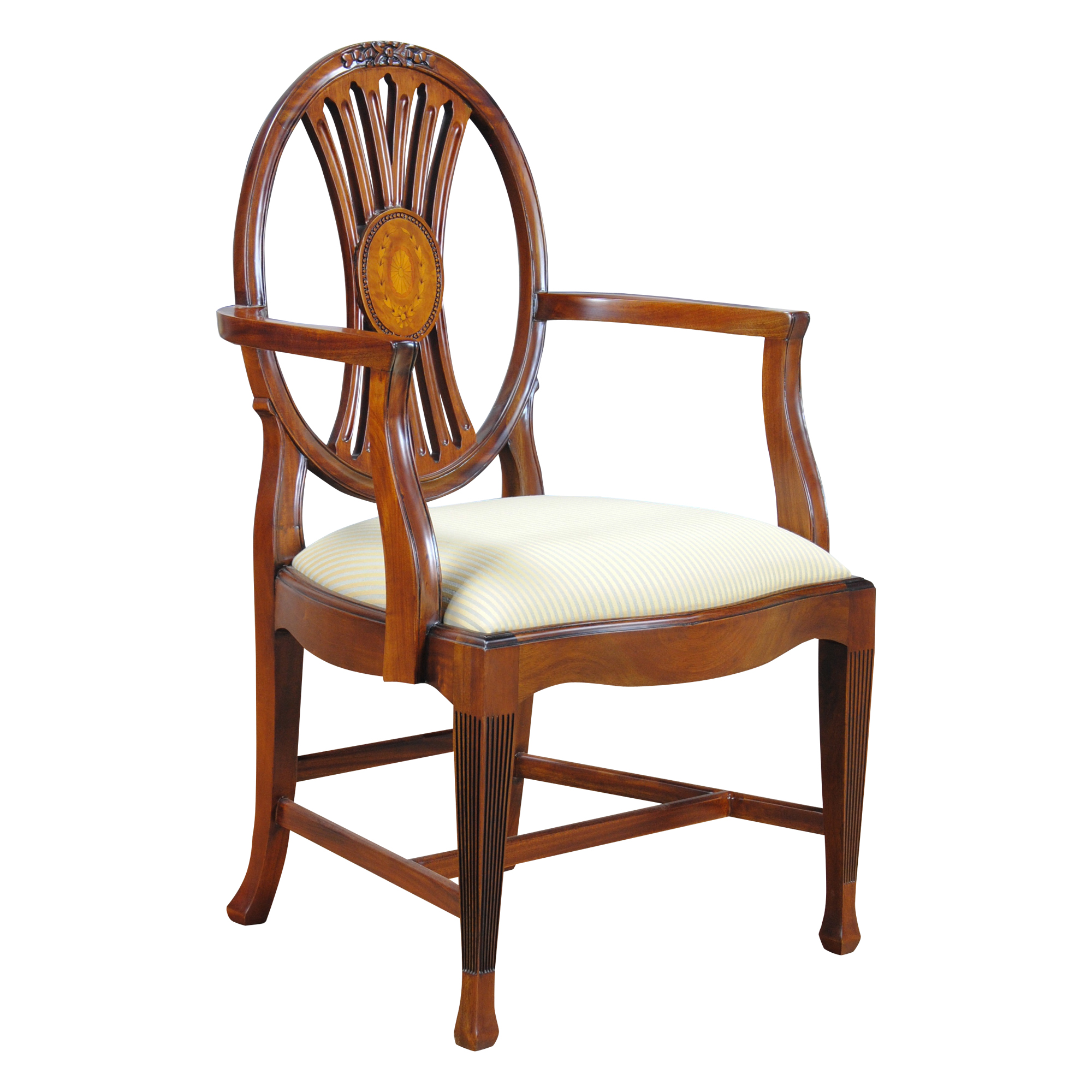 Circle Chairs For Bedrooms Round Back Inlaid Arm Chair Niagara Furniture Mahogany