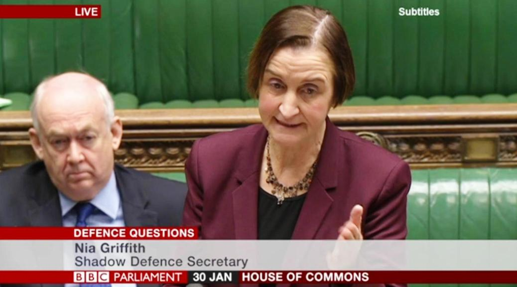 Defence questions 30th Jan 2017