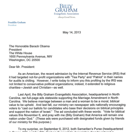 Billy Graham Evangelistic Association Targeted By IRS | Nice Deb