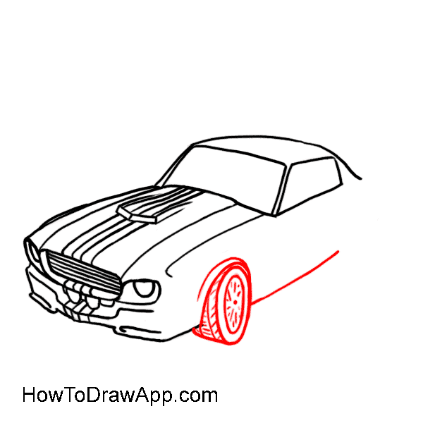 How to draw a car 08