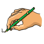 How to draw a writing pen step by step
