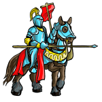 How to draw a knight on a horse step by step