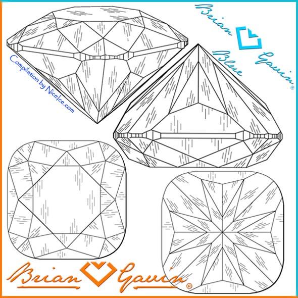 Brian Gavin Signature Cushion Cut Diamond with Hearts  Arrows