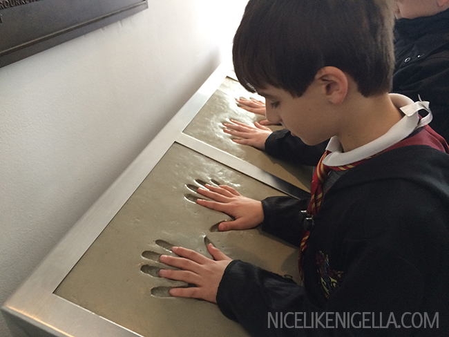 Handprints of Harry Potter, Hermione and Ron