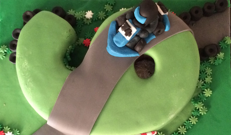 Go Karting Birthday Cake