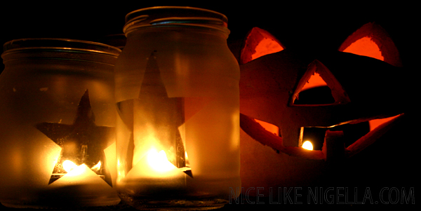 Homemade halloween lanterns
