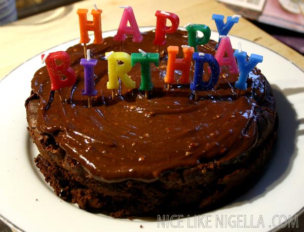 Chocolate Toffee Brownie Cake