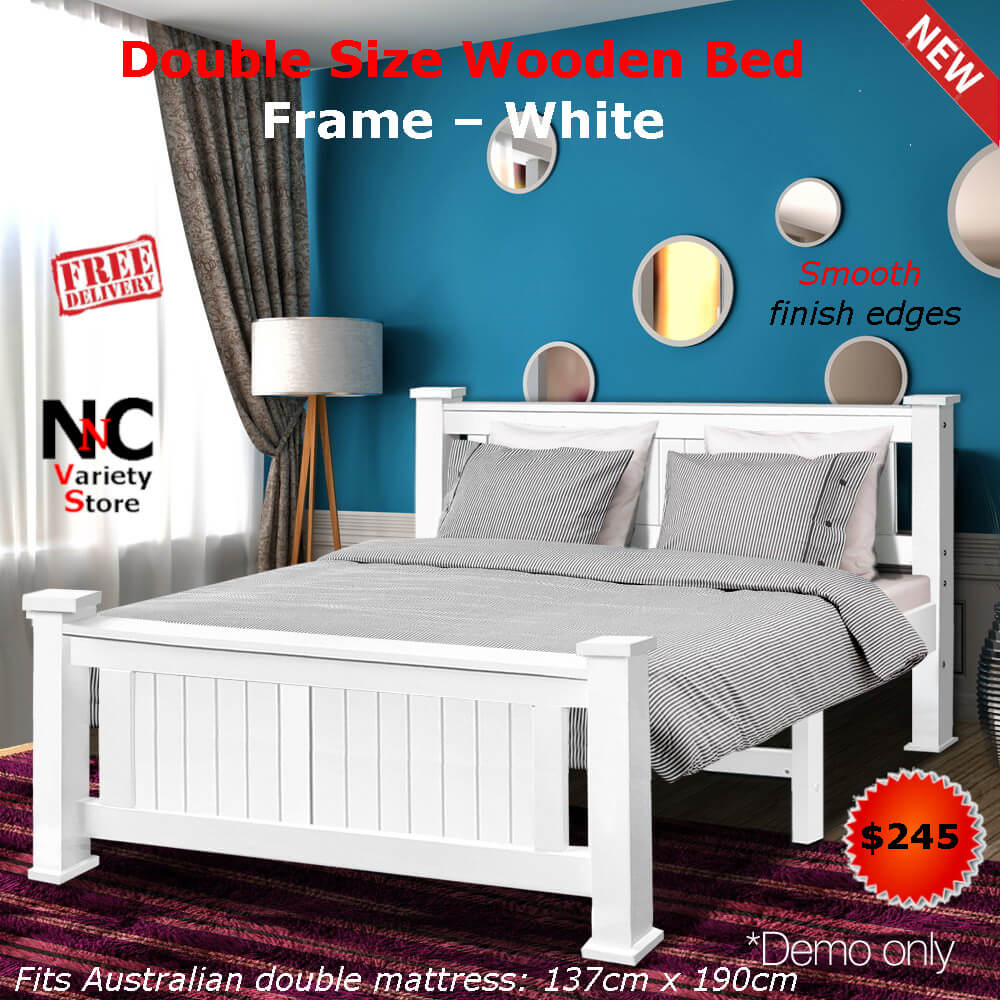 Double Size Bed Double Size Wooden Bed Frame White Nice N Cheap Variety Store