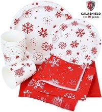Galashield Christmas Disposable Dinnerware Set Supplies ...