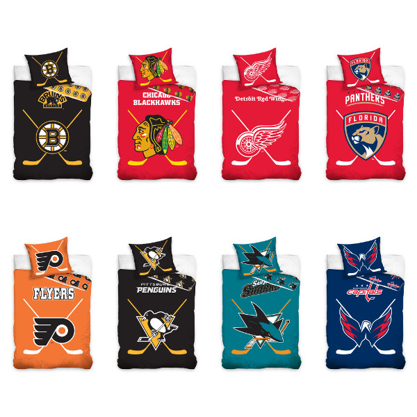NHL National Hockey League Fan Bedding Bed Linen Hockey ...