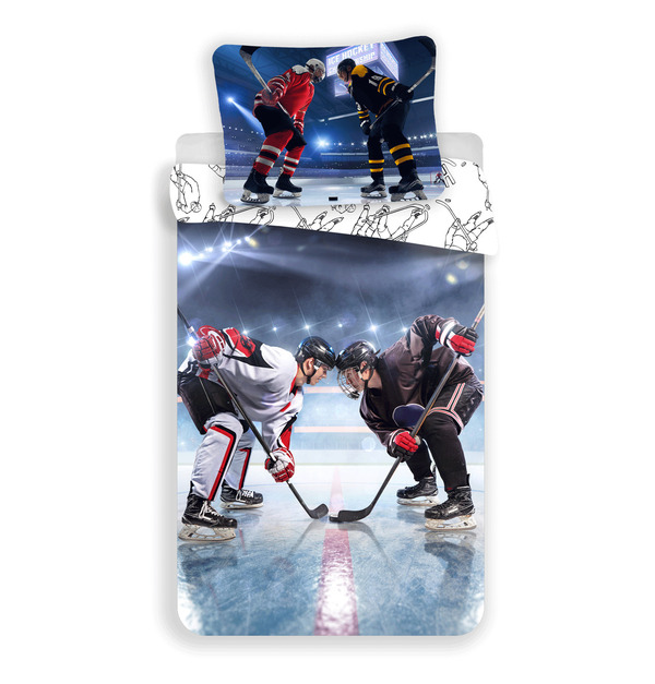 Hockey Eishockey Fan Bettwäsche 140 X 200 Cm Ebay