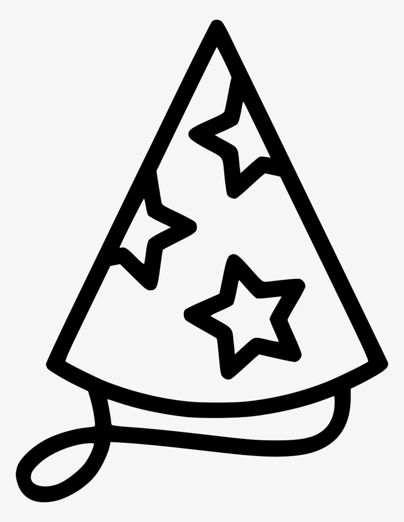 Party Hat Clipart Black And White Party Hat Birthday Hat Png Icon Transparent Png 756x980