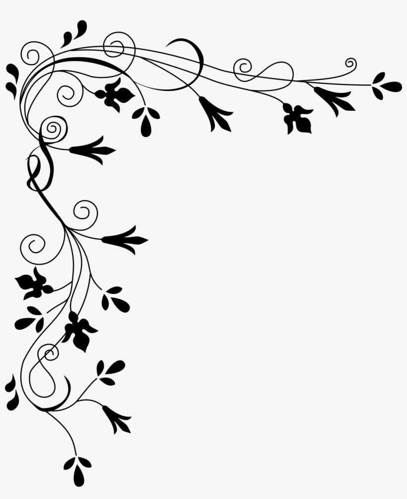 Png Flower Border Black 28 Collection Of White Flower Border Clipart Png Flowers Clip