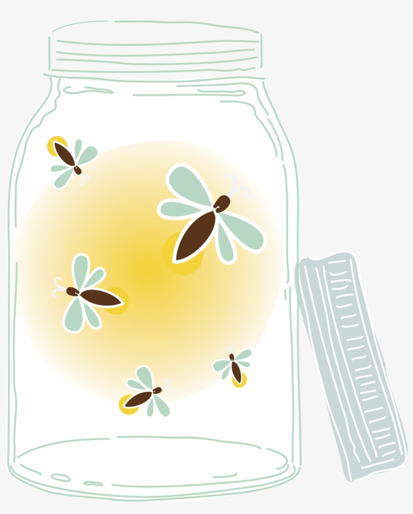 Firefly Jar Art Transparent Fireflies Drawing Mason Jar Fireflies In Mason Jar