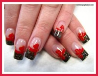 red prom nail polish designs : Woman Fashion