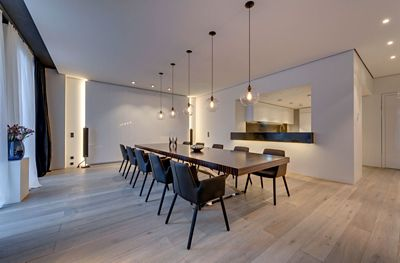 Townhouse Berlin Mitte Modern Loft In Berlin Incorporates Niche Handmade Pendant