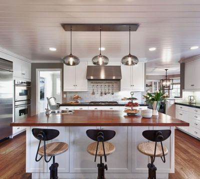 Kitchen Island Pendant Lights Kitchen Island Pendant Lighting In A Cozy California Ranch