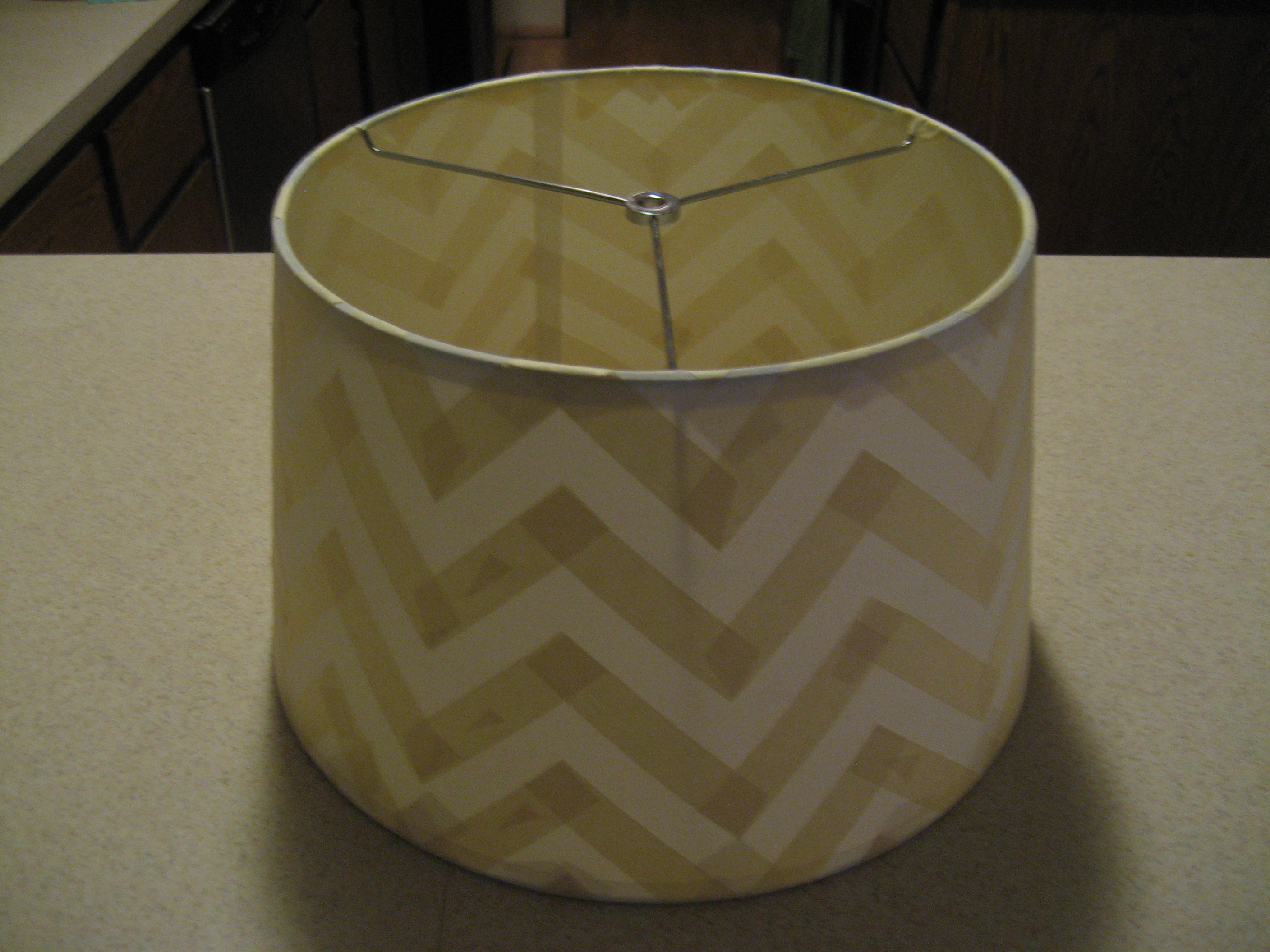 Spilled Paint Lamp Diy Chevron Stripe Lampshade Nichefix
