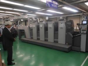 東京オフ印刷で稼働するRYOBI754 LED-UV