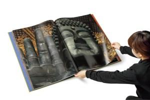 「KM-1」で印刷された小学館SUMO本『東大寺』