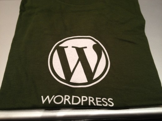 A shirt I won during the WordPress Jeopardy game.