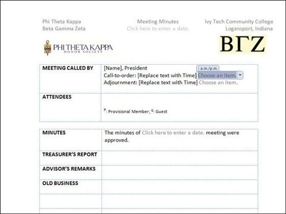 Meeting Minutes Template / Word Documents / Nichole Foster - minutes of meeting word template