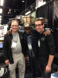 Chris Daddy Dave, and Nick Costa, Chris Dave, Nick Costa, MCD Percussion, NAMM, NAMM 2013, Chris Dave