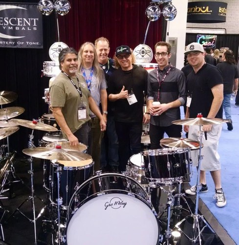 Jimmy Paxson Nick Costa and Dunnett Custom Drums