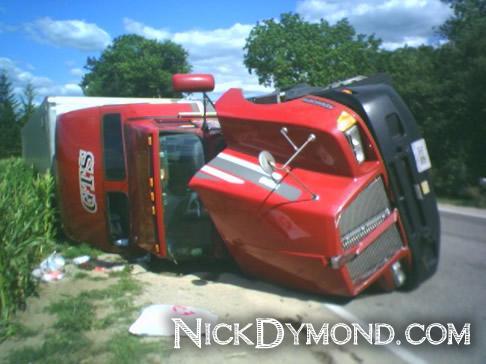 Truck Rollover = No Good