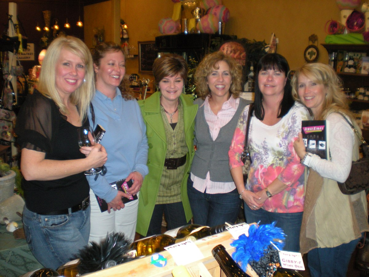 Geneva ladies take Three Daves out on the town at Gibby's Wine Den in Geneva, IL
