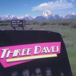 Three Daves sighs at the majesty of the Grand Tetons.