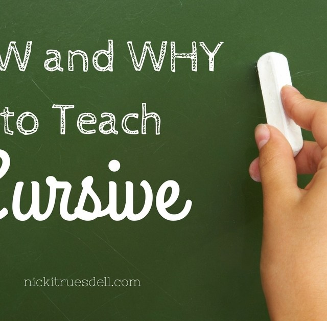 Why and How to Teach Cursive Writing