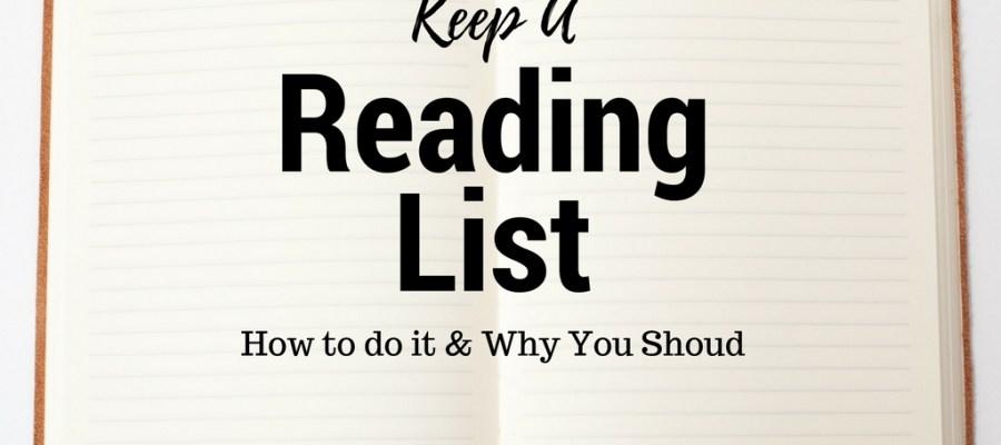 Keep a Reading List! (WTRW)