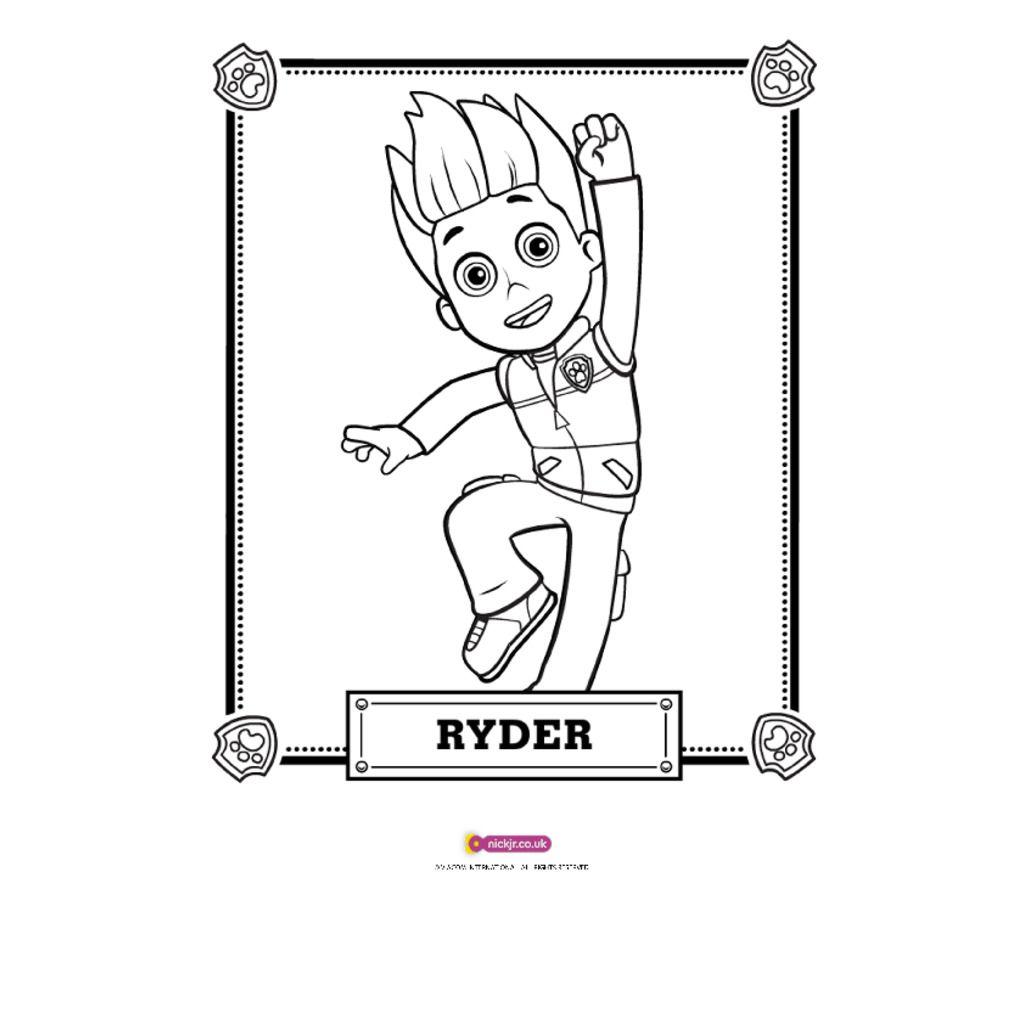 Ausmalbilder Paw Patrol Skye : Paw Patrol Ryder Coloring Page Costumepartyrun