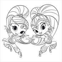 Pinnora demeter on disney colors for Shimmer and shine da colorare