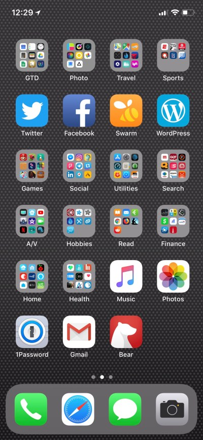 Home Screen – iPhone X – Nick's Blog