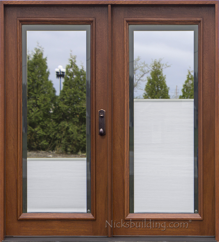 Wooden Door Blinds Blinds Between Glass
