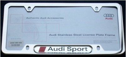 Audi Sport License Plate Frame - Holiday Gift Guide