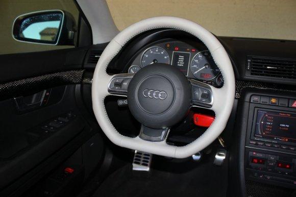Silver Audi TT Steering Wheel