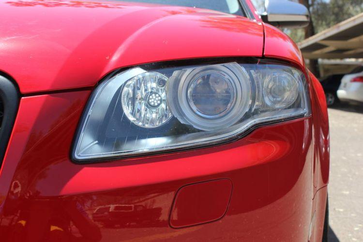 B7 Audi Headlight Close-Up