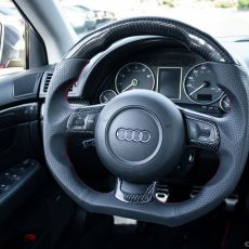 Carbon Fiber R8 Flat Bottom Steering Wheel from DCTMS