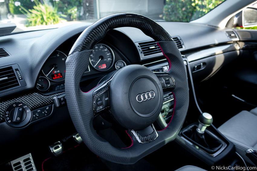 Carbon Fiber R8 Flat Bottom Steering Wheel From Dctms