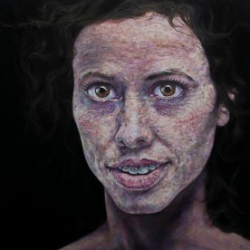 "NFS - Margaux With Morning Hair - 48""x48"" - oil on board"