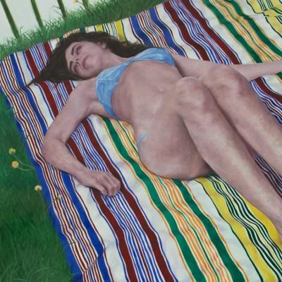 Christine Sunbathing #3
