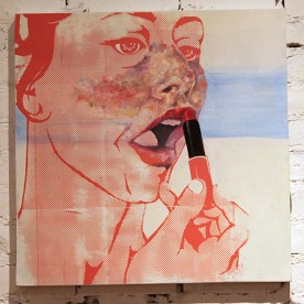 SOLD - Five More MInutes, Oil paint into Screen Print