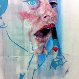 SOLD - Almost Ready, Oil paint into Screen Print