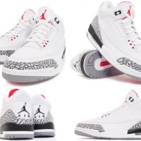 STYLE: Nike Re-Releases Iconic White/Cement Cement Grey Air Jordan IIIs!