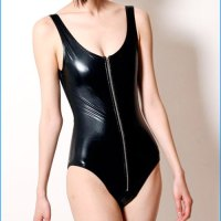 STYLE: OAK's Black Zip One Piece Swimsuit