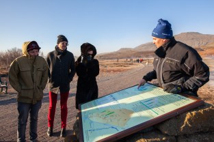 Kenny Vasoli of Vacationer and Members of Blouse at Geysir, Iceland